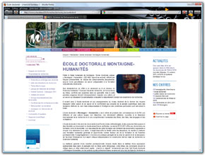 Voir le site internet de l'Université Bordeaux Montaigne