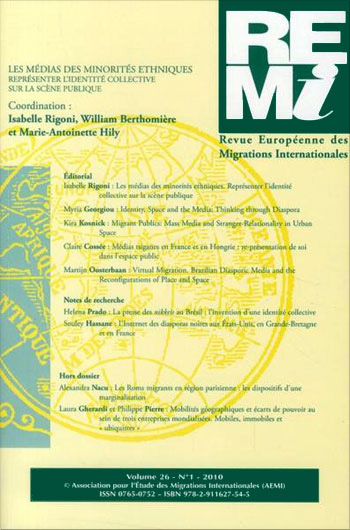 You are currently viewing Revue Européenne Des Migrations Internationales Vol. 26 n°1/2010 (Collectif)