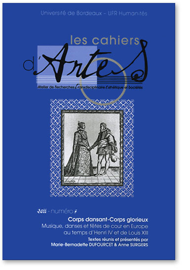 You are currently viewing Les cahiers d'Artes n°7 : Corps dansant – Corps glorieux (Collectif)