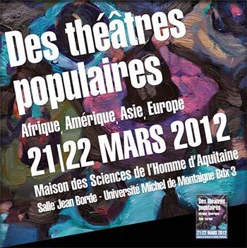 Journées d'études «Des théâtres populaires»