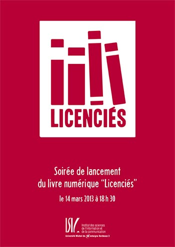 Soirée de lancement du livre numérique «Licenciés»