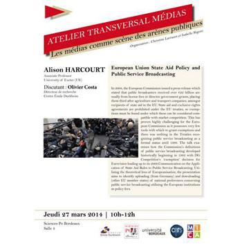 Atelier transversal Médias : Intervention d'Alison Harcourt