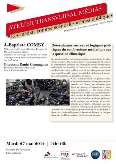 Atelier Transversal Médias : conférence de Jean-Baptiste Comby