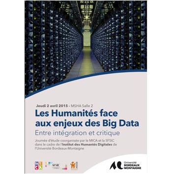 Journée d'étude : Les humanités face aux enjeux des Big Data
