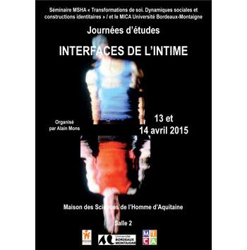 Journées d'études : Interfaces de l'intime