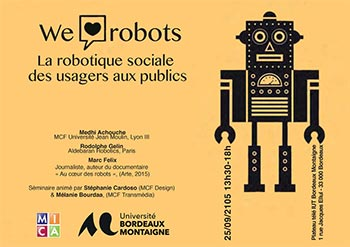Séminaire : We love robots