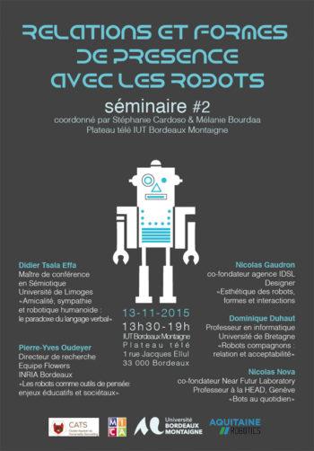 séminaire : Relations et formes de présence avec les robots