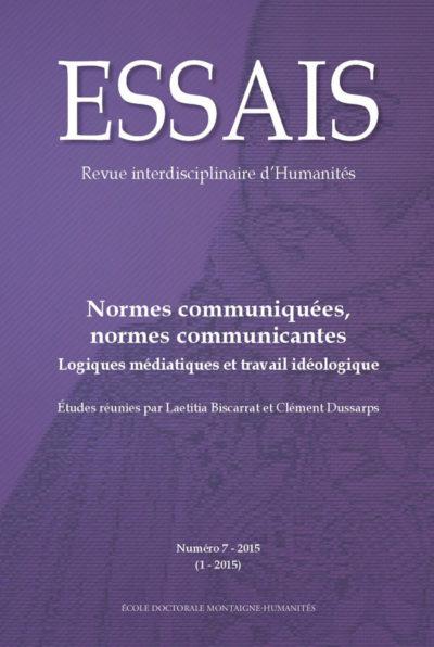 Essais N°7 – Revue interdisciplinaire d'Humanités