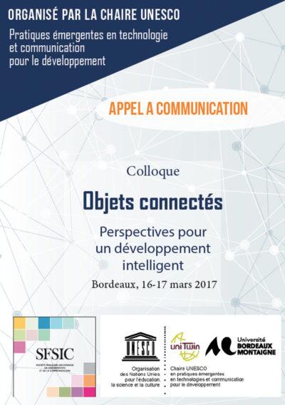 Appel à communication : colloque Objets connectés