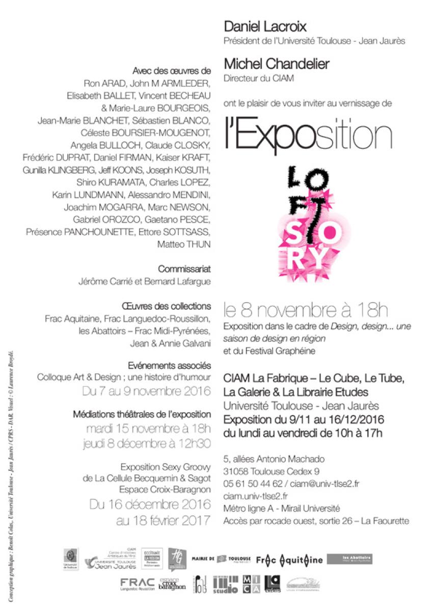 Exposition «Loft Story» et colloque ( Art, design, humour)