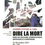 Affiche journées d'études IJBA - Dire la mort dans les discours journalistique, artistique et scientifique 115 déc 2017