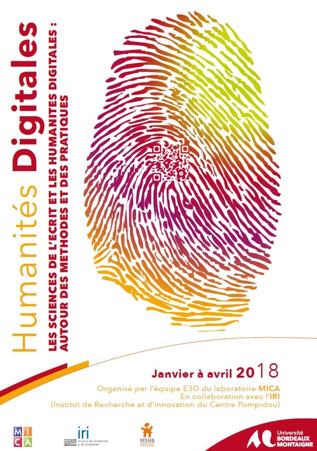 Séminaire E3D : Les sciences de l'écrit et les humanités digitales : autour des méthodes et des pratiques – séance 1