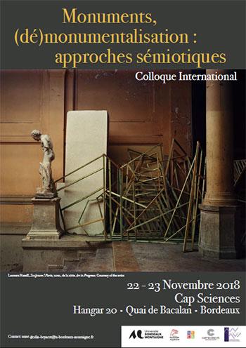 Colloque : Monuments, (dé)monumentalisation : approches sémiotiques