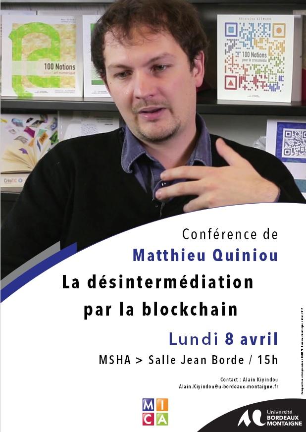 Conférence de Matthieu Quiniou