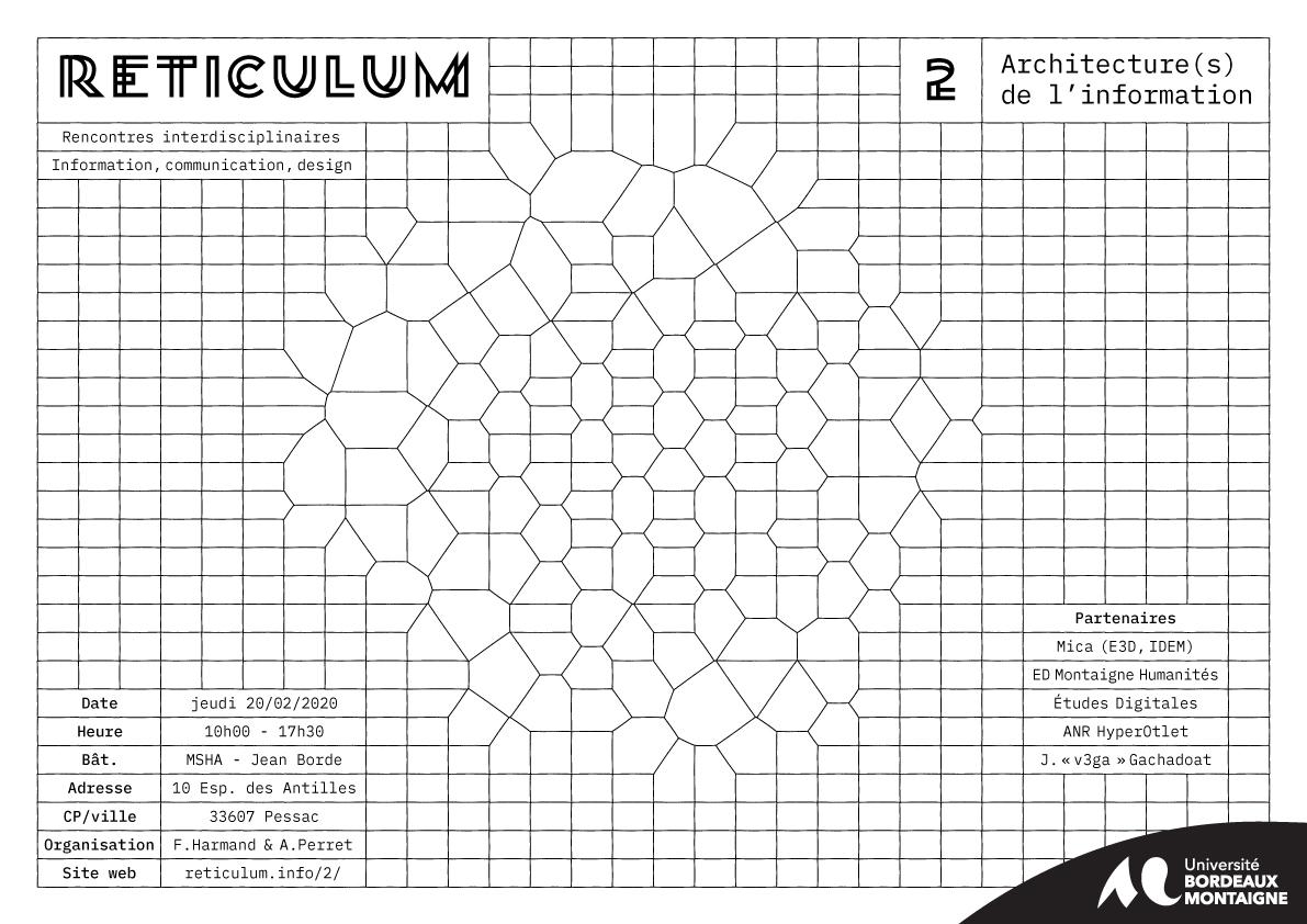 Reticulum 2 – Rencontres interdisciplinaires entre SIC et design