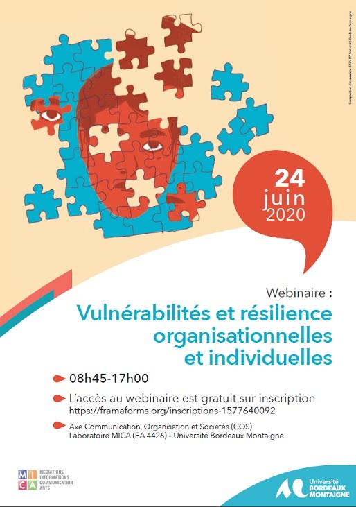 Webinaire Vulnérabilités et résilience organisationnelles et individuelles