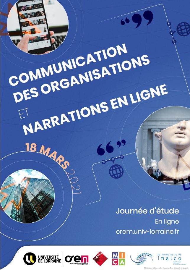 You are currently viewing Journée d'étude – Communication des Organisations et Narrations en ligne