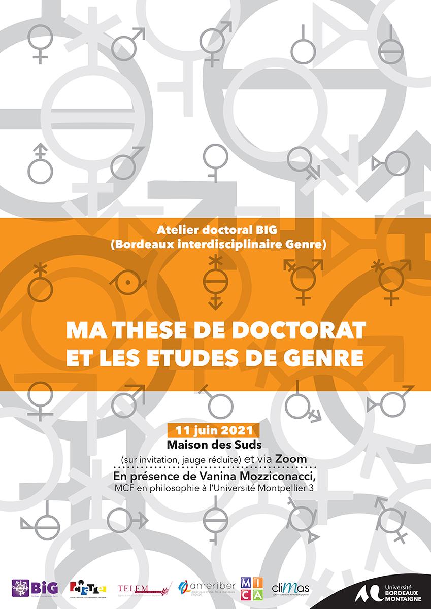 You are currently viewing Atelier doctoral BIG – Ma thèse de doctorat et les études de genre